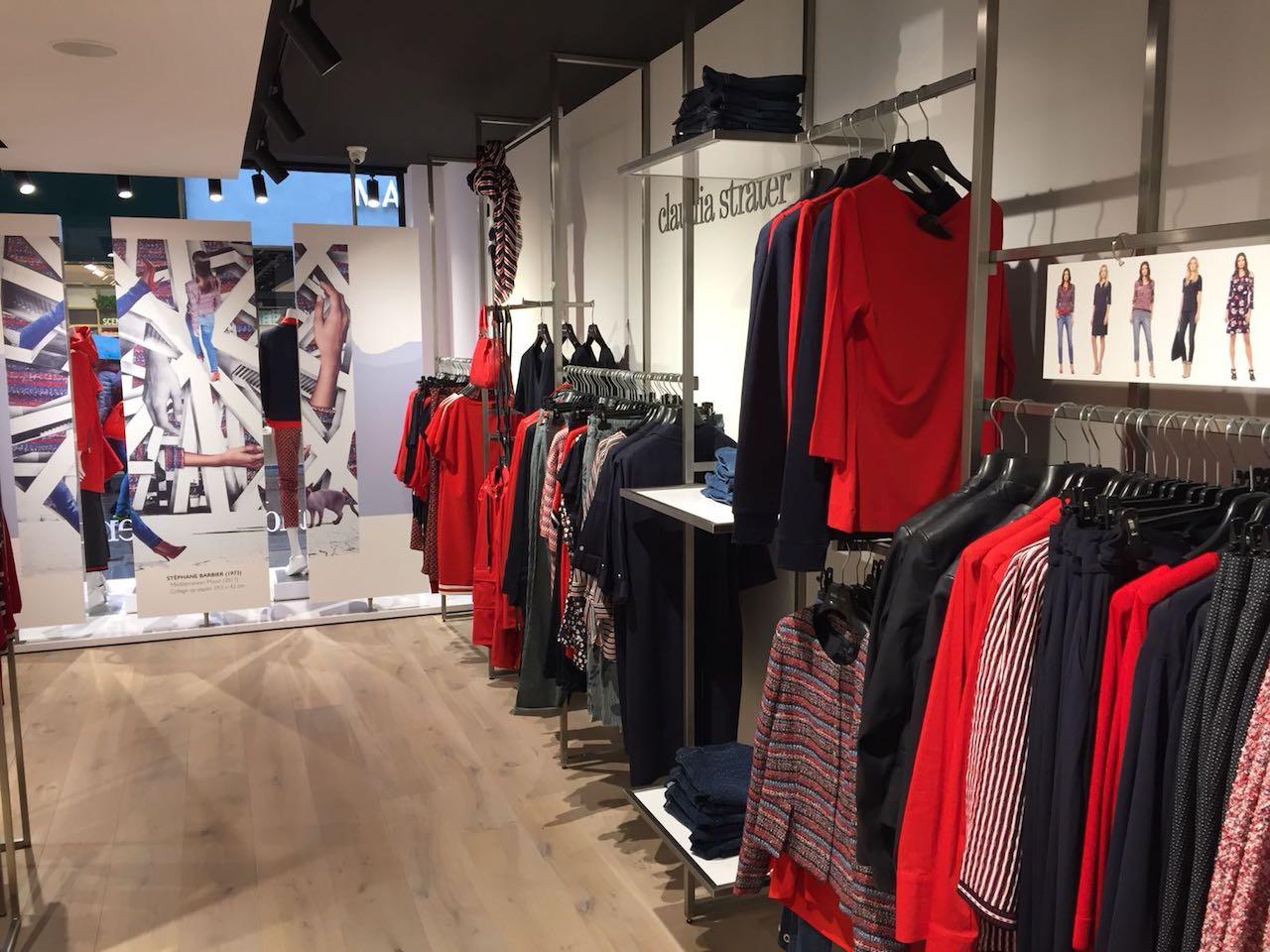 Rvs kledingschap op maat gemaakt in kledingwinkel