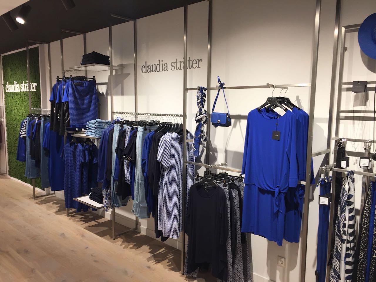 Rvs kledingschap op maat gemaakt in kledingzaak